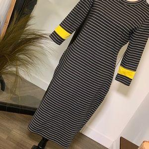 ZARA Long Sleeve T-Shirt Style Midi Dress